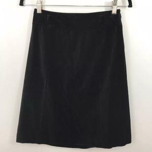 The Limited black velvet skirt